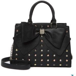 RESTOCKED Betsey Johnson big bow studded satchel